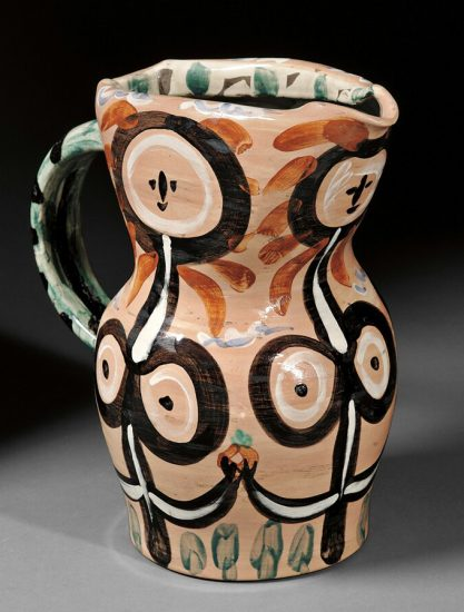 Pablo Picasso Ceramic, Femmes Fleurs (Women Pitcher), 1948