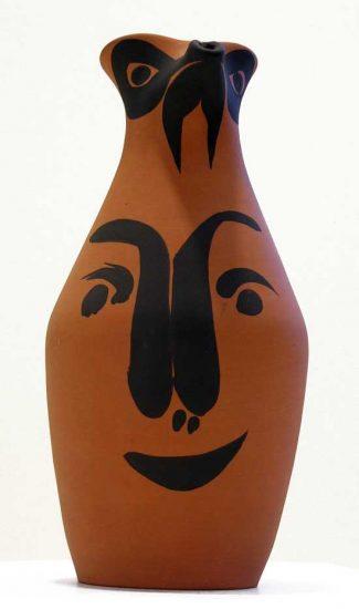 Pablo Picasso Ceramic, Yan Face, 1963 A.R. 512