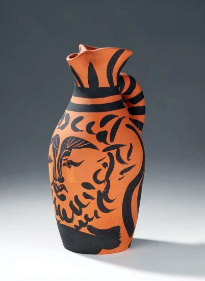 Pablo Picasso Ceramic, Bearded Yan, 1963