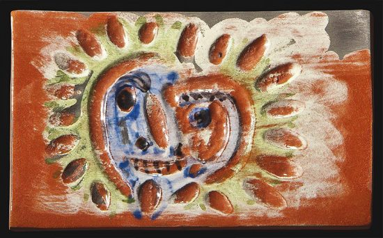 Pablo Picasso Ceramic, Picasso Madoura Plaque, Sun, 1968-1969