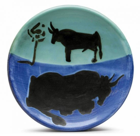 Pablo Picasso Ceramic, Toros (Bulls), 1952 A.R. 161