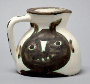 Pablo Picasso Ceramic, Picasso Vase, Heads, 1956