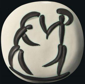 Pablo Picasso Ceramic, Les danseurs (Dancers), 1956