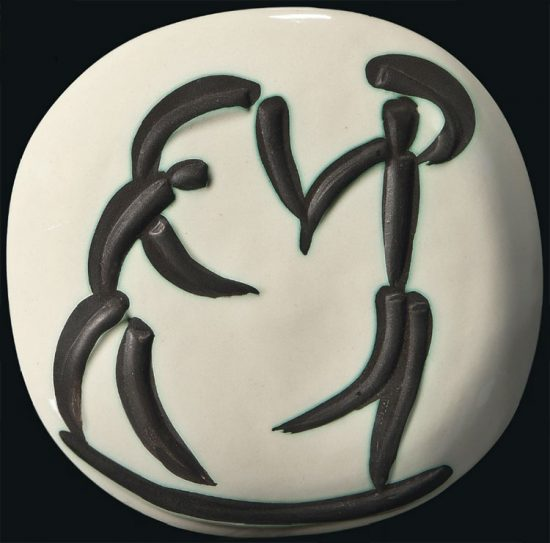 Pablo Picasso Lithograph, Les danseurs (Dancers), 1956 A.R. 387