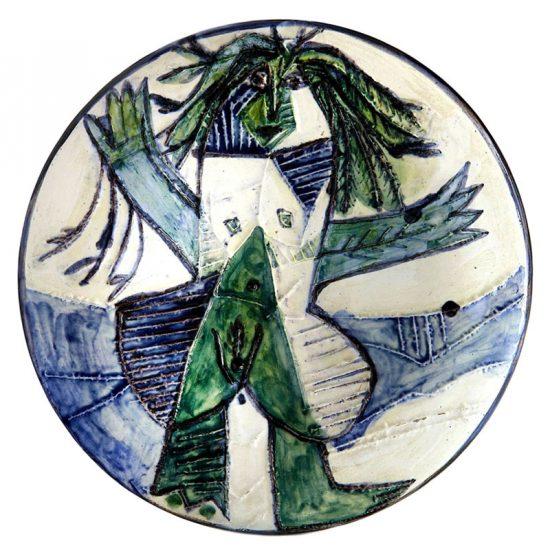 Pablo Picasso Ceramic, Femme Échevelée (Disheveled Woman), 1963 A.R. 509