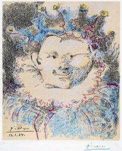 Pablo Picasso Lithograph, Harlequin, 1964
