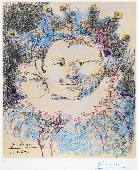 Pablo Picasso Lithograph, Harlequin, 1964