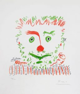 Pablo Picasso Lithograph, Le Clown (The Clown), 1968