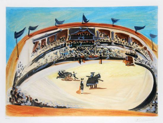 Pablo Picasso Aquatint, La Corrida (The Bullfight), 1956