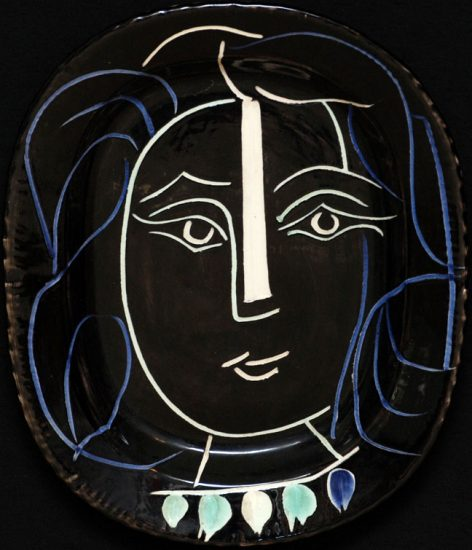 Pablo Picasso Lithograph, Woman's Face, 1953 A.R. 220