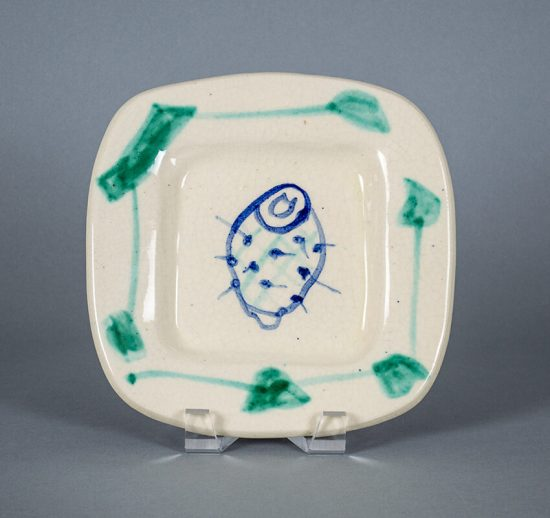 """Pablo Picasso Ceramic, Plate D, """"Fruits from Provence"""" Service, 1948"""