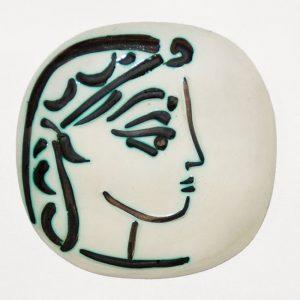 Pablo Picasso Ceramic, Profil de Jacqueline (Jacqueline's Profile), 1956