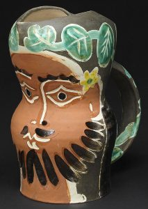 Pablo Picasso Ceramic, Ceramic Vase Bearded Man, 1953 companion to the Bearded Man's Wife, 1953
