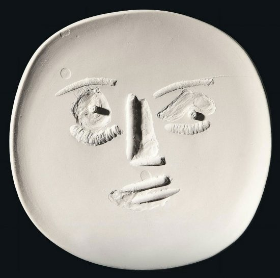 Pablo Picasso Lithograph, Big-Eyed Face, 1960 A.R. 443