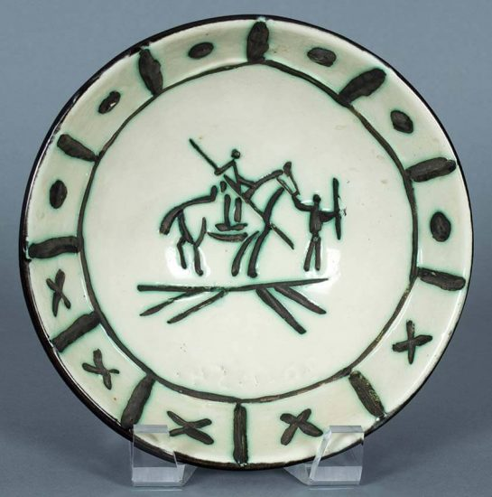 Pablo Picasso Ceramic, Picador, 1954