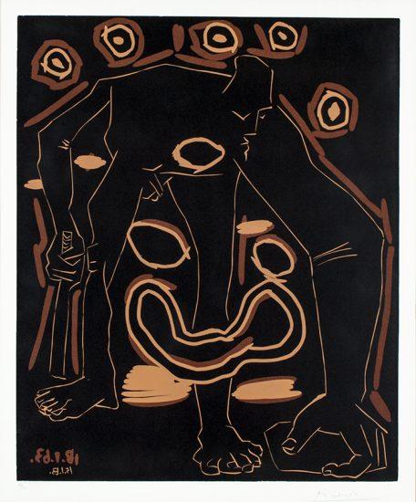 Pablo Picasso Lithograph, L'Homme au baton (Man with a Stick), 1963