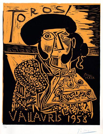 Pablo Picasso Artwork, Toros, 1958