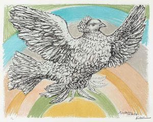 Pablo Picasso Lithograph, Colombe Volant (Flying Dove), 1952