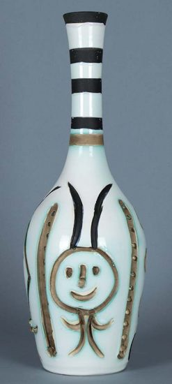 Pablo Picasso Ceramic, Bouteille gravée (Engraved Bottle), 1954