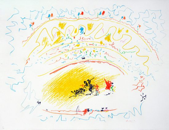 Pablo Picasso Lithograph, Corrida (Bullfight), 1957