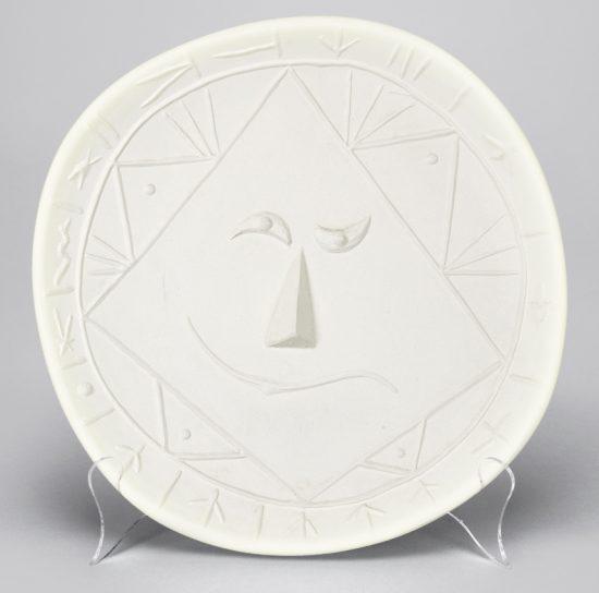 Pablo Picasso Ceramic, Geometric Face, 1956 A.R. 344