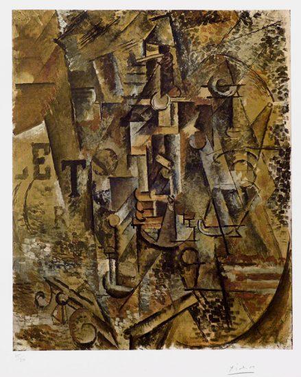 Pablo Picasso Lithograph, La Bouteille de Rhum (Bottle of Rum), c. 1965