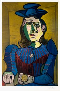 Pablo Picasso Lithograph, Femme Assise (Dora Maar), 1955