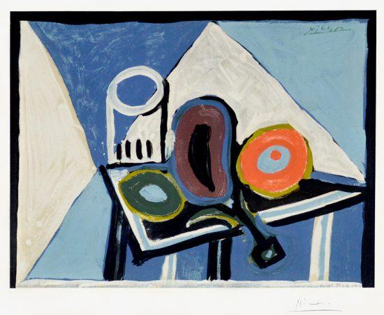 Pablo Picasso Lithograph, Nature morte à l'aubergine (Still Life with Eggplant), c. 1946