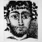 Pablo Picasso Etching, Pablo Picasso Le Faune (The Faun), 1958