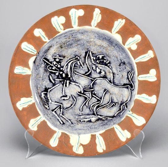 Pablo Picasso Ceramic, Scène de tauromachie (Tauromachy Scene), 1959