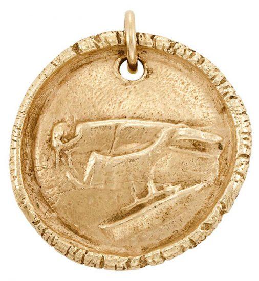 Pablo Picasso Gold, Dove Gold Pendant, c. 1949