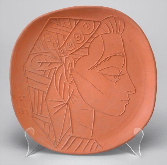 Pablo Picasso Ceramic, Profil de Jacqueline (Jacqueline's Profile), 1956 A.R. 308