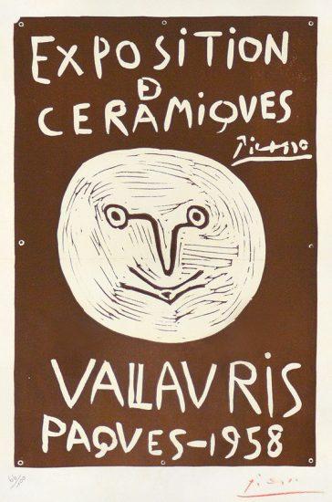 Pablo Picasso Artwork, Exposition Ceramiques, Vallaruis, Paques, 1958