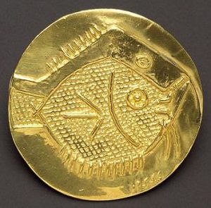 Pablo Picasso Gold, Fish, 1967