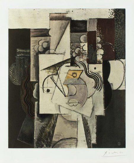 Pablo Picasso Collotype, Cubist Composition, c. 1960