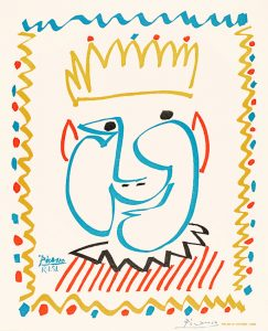 Pablo Picasso Lithograph, Le Roi (The King), 1951
