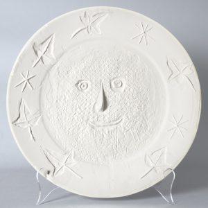 Pablo Picasso Ceramic, Visage aux Feuilles (Face with Leaves), 1956
