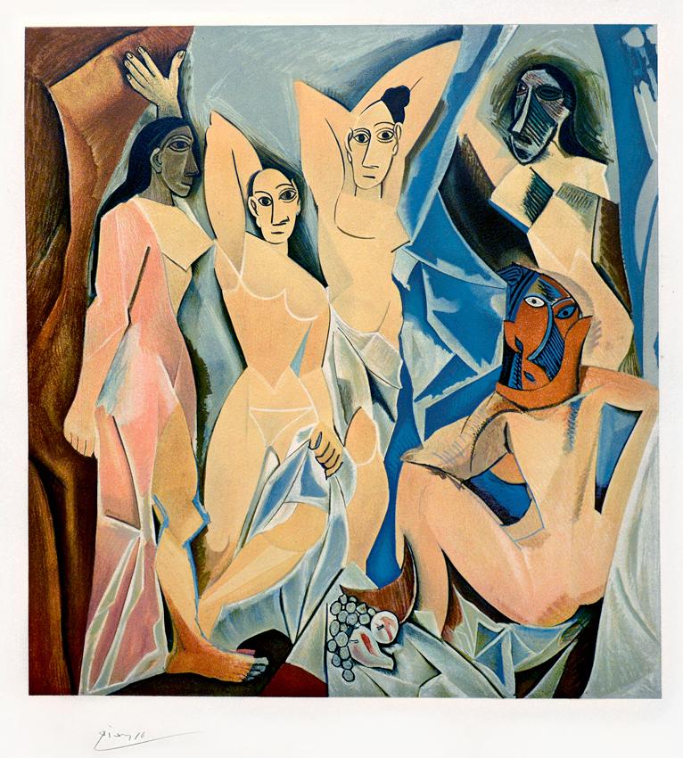 Pablo Picasso Les Demoiselles D Avignon The Young Ladies Of Avignon 1953 Lithograph S