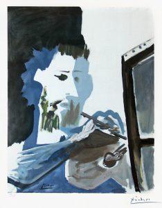 Pablo Picasso Collotype, Le Peintre (The Painter), 1963