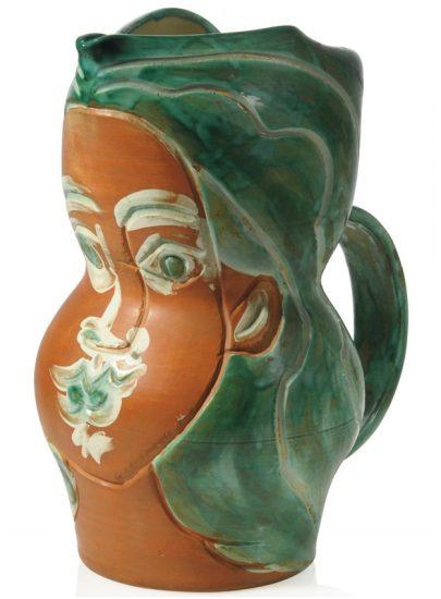 Pablo Picasso Ceramic, Visage de femme (Woman's Face), 1953 A.R. 192