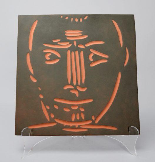 Pablo Picasso Ceramic, Visage d'homme (Man's Head), 1968-1969 A.R. 570