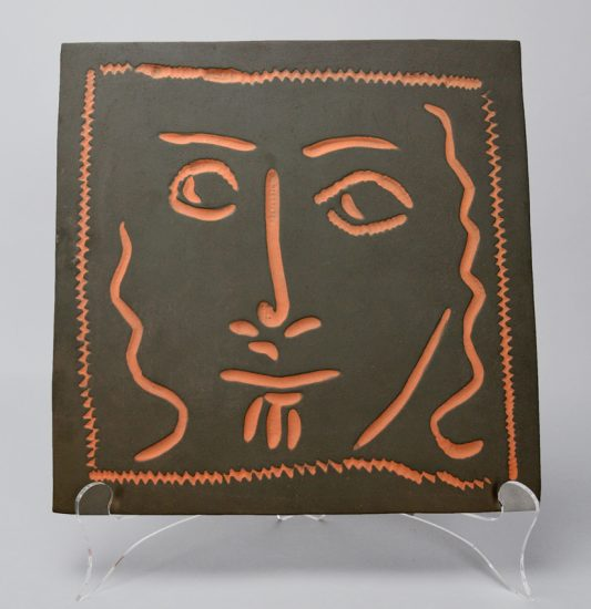 Pablo Picasso Ceramic, Curly Haired Face (Visage aux cheveux bouclés),1968-1969