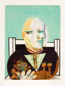 Pablo Picasso Aquatint, Vollard et son Chat (Vollard and His Cat ), c. 1960
