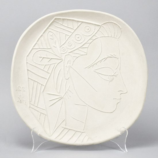 Pablo Picasso Ceramic, Picasso Madoura Ceramic, Profil de Jacqueline (Jacqueline's Profile), 1956