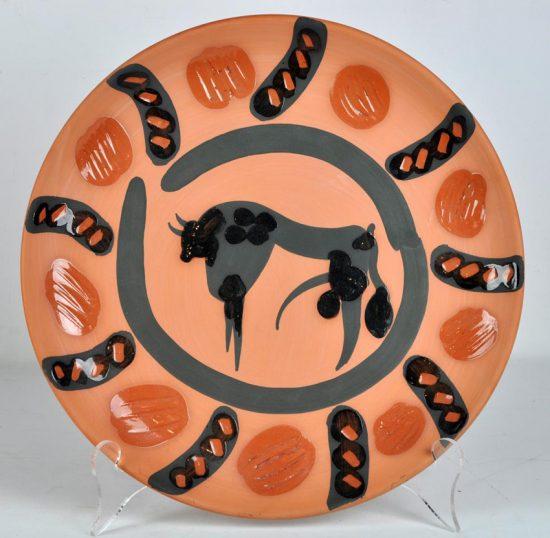 Pablo Picasso Ceramic, Taureau (Bull), 1957 A.R. 392
