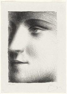 Pablo Picasso Lithograph, Visage de Marie-Thérèse (Face of Marie-Thérèse), 1928