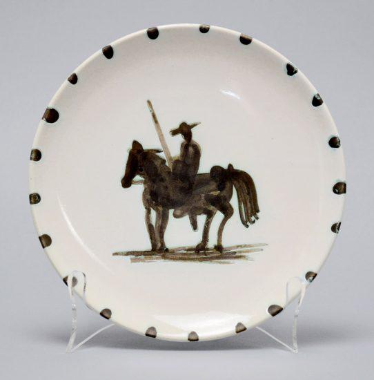Pablo Picasso Ceramic, Madoura Plate, Picador, 1952