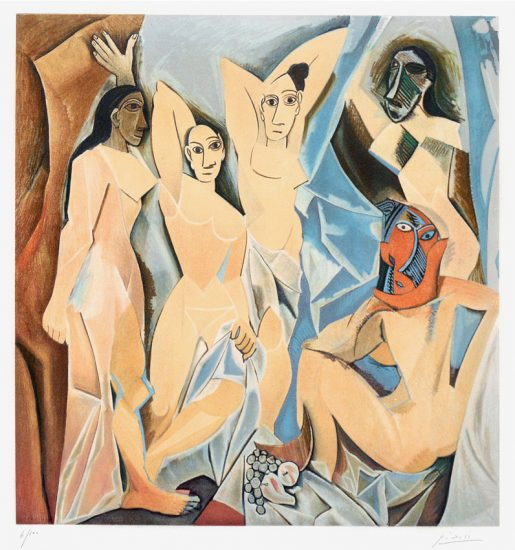 Pablo Picasso Lithograph, Les Demoiselles d'Avignon (The Young Ladies of Avignon), 1955