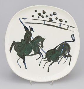 Pablo Picasso Ceramic, Picador et taureau (Picador and Bull), 1953