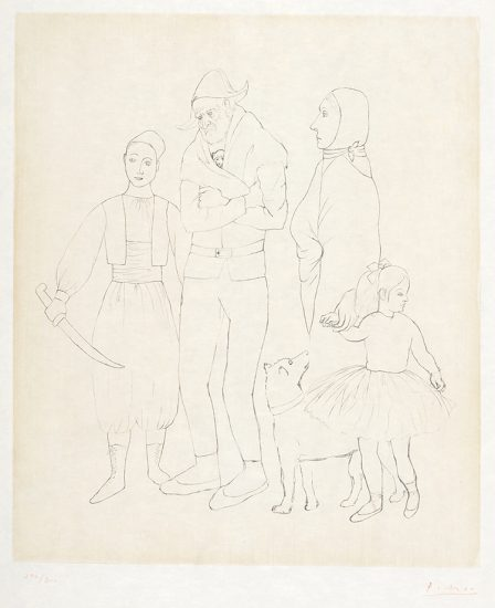 Pablo Picasso Etching, Famille des Saltimbanques (Family of Acrobats), c. 1950